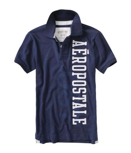 Aeropostale Mens 87 Rugby Polo Shirt navyblue XS