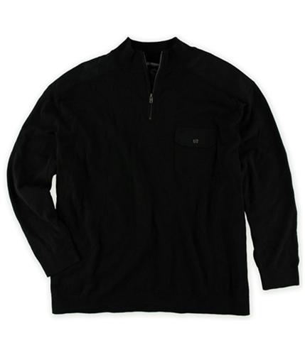 Alfani Mens 1/4 Zip Rib Mock Knit Sweater