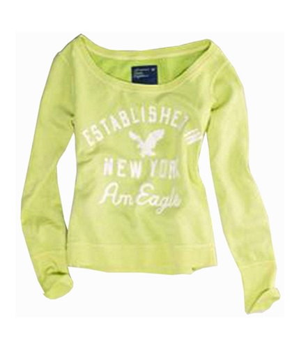 American Eagle Outfitters Womens Mtn. Pass Pull Over Sweatshirt greenyellow S