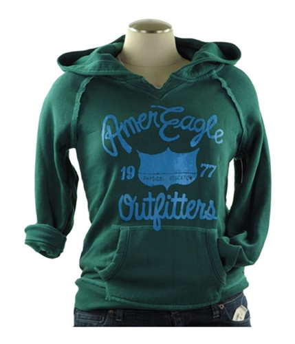 American Eagle Outfitters Womens Physical Education Hoodie Sweatshirt green XS