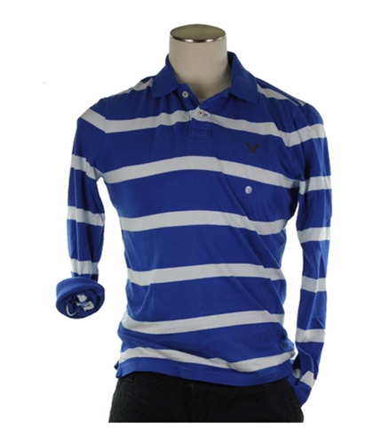 American Eagle Outfitters Mens Long Sleeve Rugby Polo Shirt 400 XS