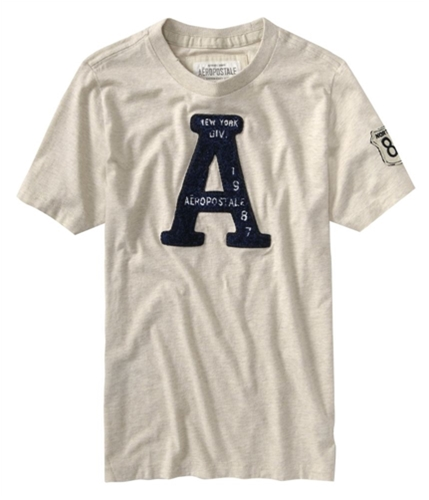 Aeropostale Mens A 1987 Graphic T-Shirt offwhiteoatmeal XL