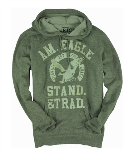 American Eagle Outfitters Mens Stand & Trad Hoodie Sweatshirt gray 2XL
