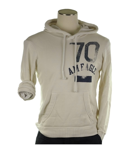 American Eagle Outfitters Mens Pull Over Hoodie Sweatshirt offwhite XS