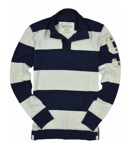 Aeropostale Mens Stripe 5 Henley Shirt opalwhite XS