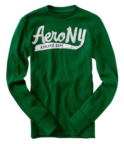 Aeropostale Mens Long Sleeve Crewneck Thermal Sweater kellygreen 2XL