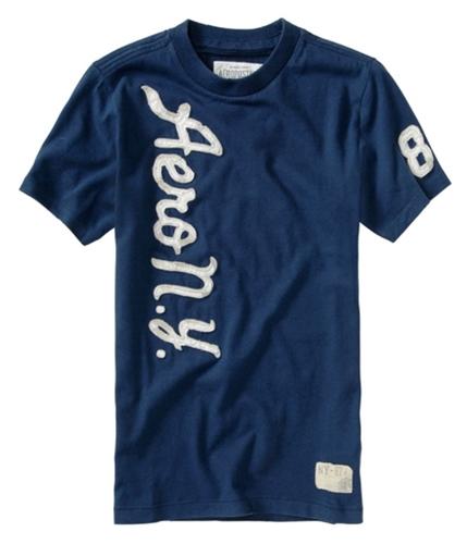 Aeropostale Mens Embroidered Aero Ny Graphic T-Shirt navyblue XS