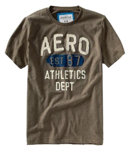 Aeropostale Mens Aero Est 87 Graphic T-Shirt brownl 2XL