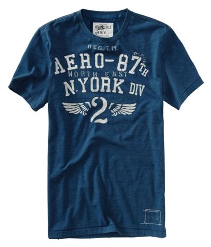 Aeropostale Mens Aero-87th North East Graphic T-Shirt lunablue XS