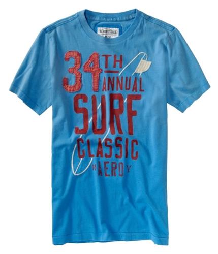 Aeropostale Mens 34th Surf Graphic T-Shirt heavenlyblue XS