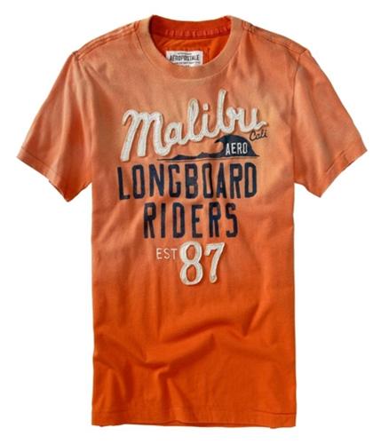 Aeropostale Mens Malibu Cali Graphic T-Shirt brtorange XS