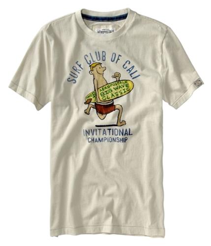 Aeropostale Mens Surf Club Of Cali Graphic T-Shirt lighttan XS