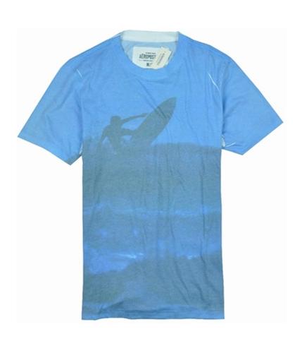 Aeropostale Mens Fadded Surf Graphic T-Shirt bleachwhite S