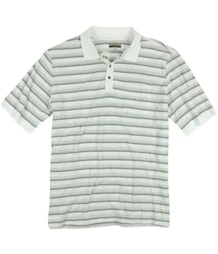Alfani Mens Ls Striped Rugby Polo Shirt