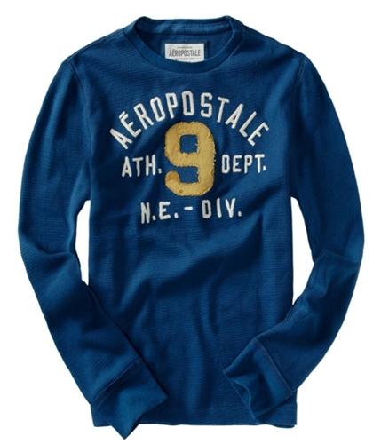 Aeropostale Mens # 9 Thermal Knit Sweater lunablue XS