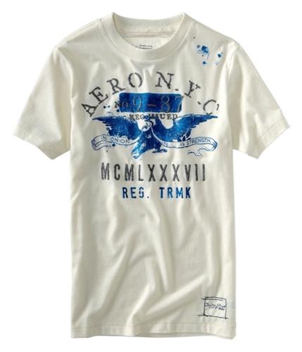 Aeropostale Mens Aero Nyc Mcmlxxxv Graphic T-Shirt offwhite XS