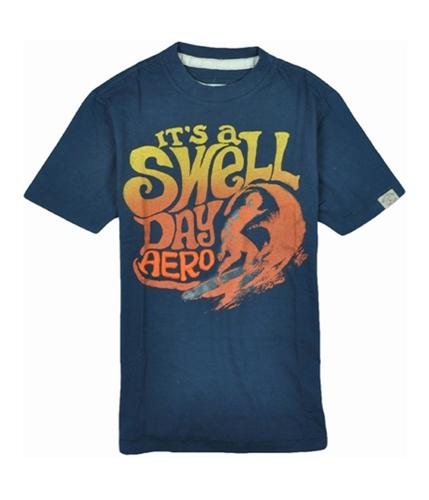 Aeropostale Mens Swell Day Graphic T-Shirt rainstormgray XS