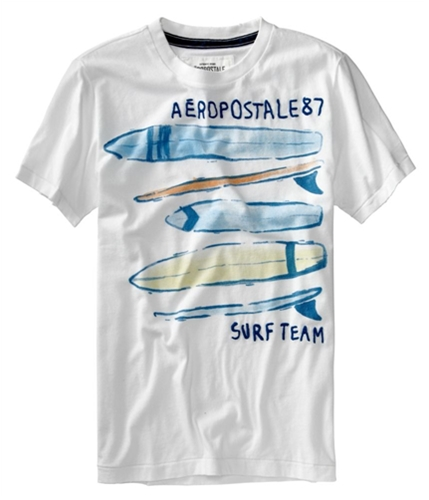 Aeropostale Mens 87urfeam Graphic T-Shirt bleachwhite XS