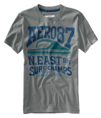 Aeropostale Mens Surf Champ Of New York Graphic T-Shirt sharkfingray XS