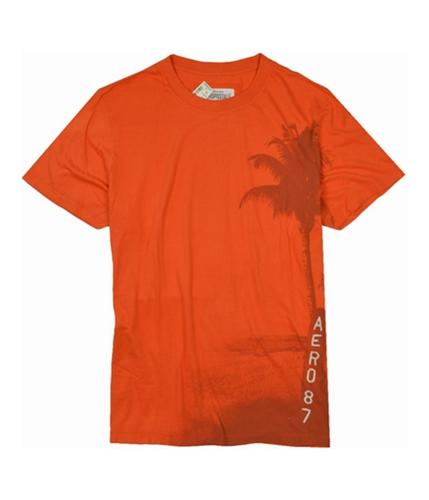 Aeropostale Mens Palm Tree Aero 87 Graphic T-Shirt brightorange 2XL