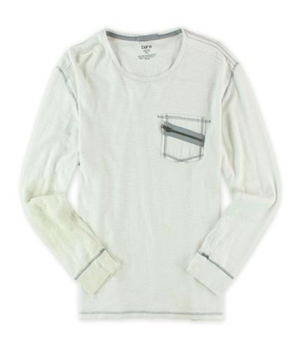 bar III Mens Solidl Henley Shirt red XL