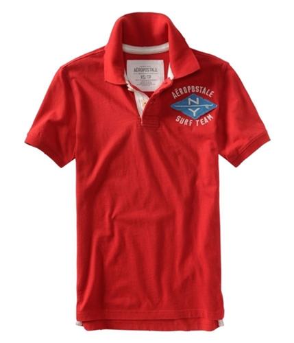 Aeropostale Mens Nyurfeam Rugby Polo Shirt autumnred XS