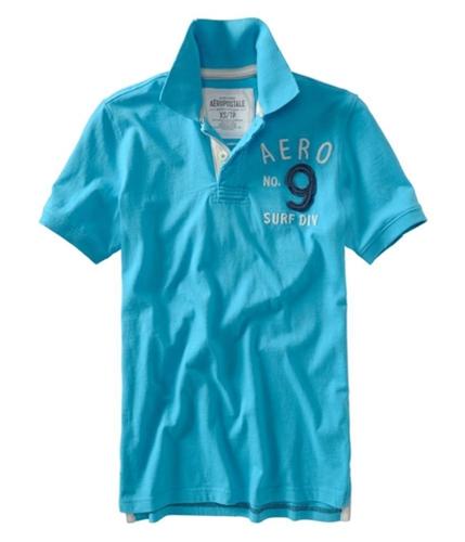 Aeropostale Mens No. 9urf Div Rugby Polo Shirt curacaoaqua XS