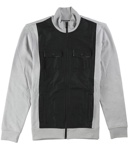 Alfani Mens Reyes Mixed-Media Shirt Jacket