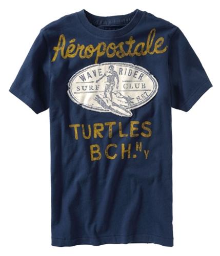 Aeropostale Mens Wave Rider Graphic T-Shirt navyblue XS