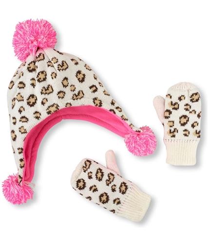 The Children's Place Girls Animal Print Set Beanie Hat