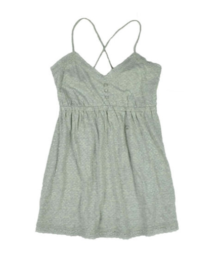 Aeropostale Womens Lace Cami Tank Top lththrgray S