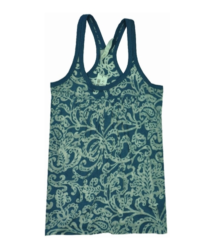 Aeropostale Womens Loose Fit Floral See Through Cami Tank Top lunablue XS