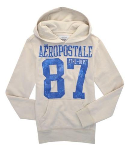 Aeropostale Mens 87 Hoodie Sweatshirt softsand S