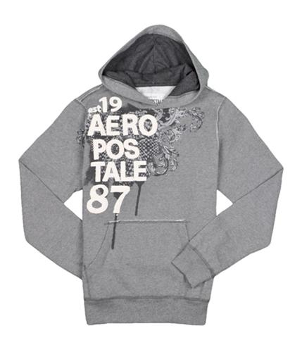 Aeropostale Mens Graphic 87 Hoodie Sweatshirt mediumgray XS
