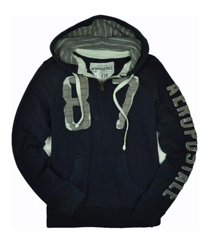 Aeropostale Mens 1/2 Zipper 87 Hoodie Sweatshirt navyblue XS