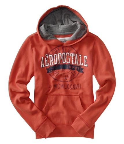 Aeropostale Mens Graphic Screenprint Hoodie Sweatshirt citrusorange 2XL