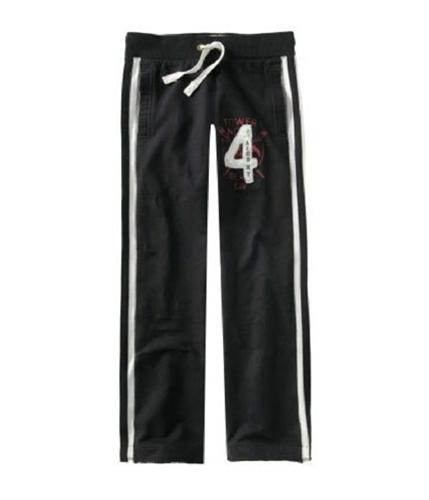 Aeropostale Mens 4 Aero Ny Embroidered Casual Trouser Pants black XS/32