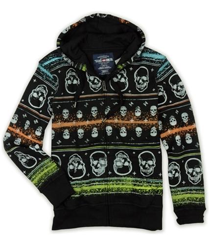 Ecko Unltd. Mens Neon Group Skull Print Hoodie Sweatshirt black XS