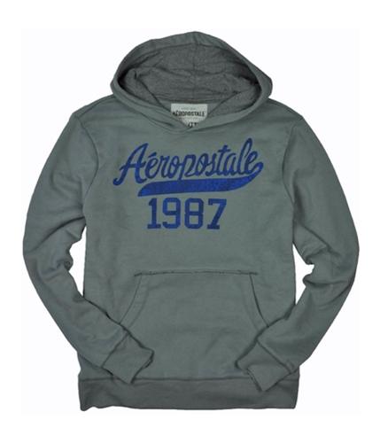 Aeropostale Mens 1987 Hoodie Sweatshirt sharkgray 2XL