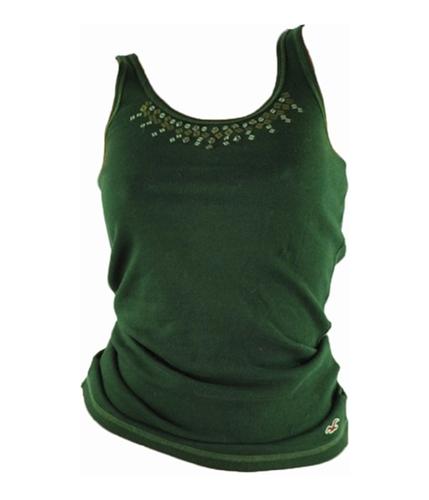 Hollister Womens Embellished Tank Top green L