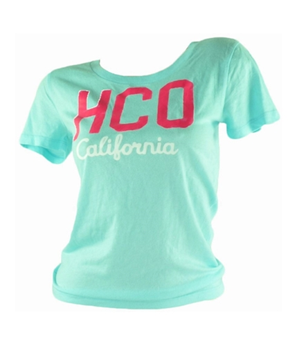 Hollister Mens Wo Hco California Graphic T-Shirt lightblue M