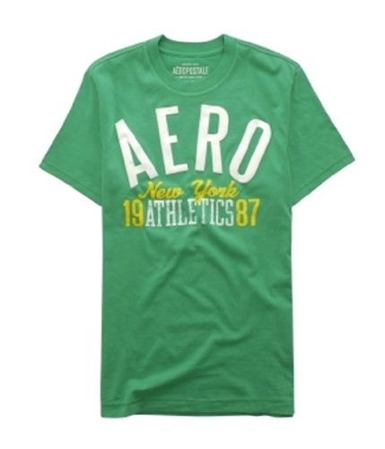 Aeropostale Mens 1987 Athletics Graphic T-Shirt cosmicgreen S