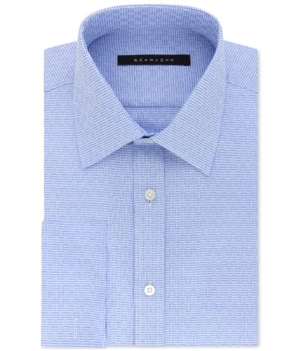 Sean John Mens Textured Button Up Dress Shirt softblue 16.5