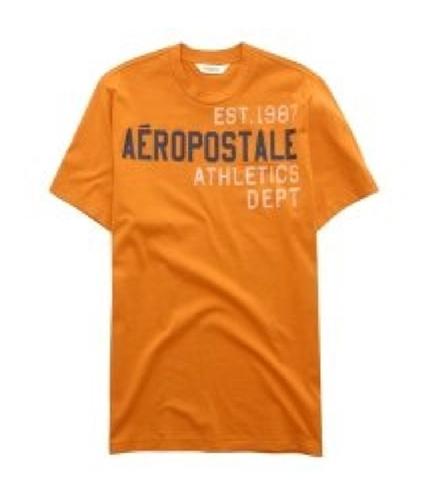 Aeropostale Mens Athletic Dept Graphic T-Shirt orange M