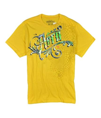 Aeropostale Mens Yellow Aero Graphic T-Shirt yellow L