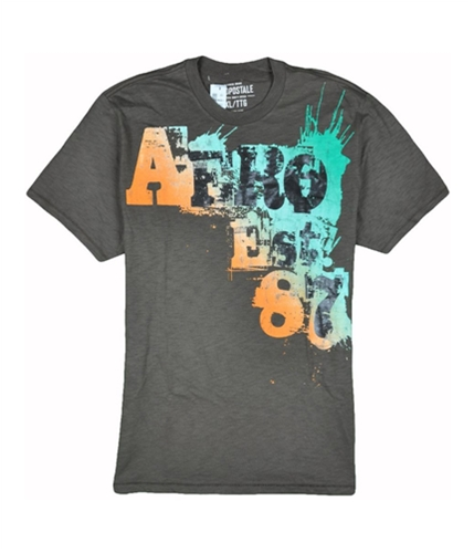 Aeropostale Mens Aero Est 87 Graphic T-Shirt burntsandbrown S