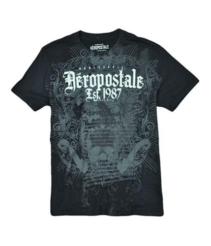 Aeropostale Mens Est. 1987 Graphic T-Shirt black S