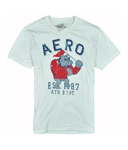 Aeropostale Mens Aero Bull Dog Est 1987 Graphic T-Shirt oatmealwhite L