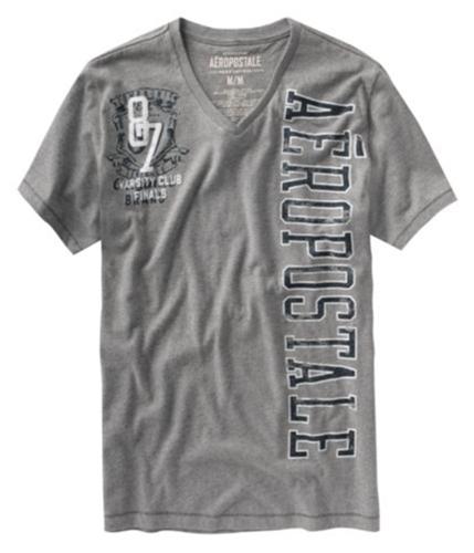 Aeropostale Mens 87 Varsity Club Graphic T-Shirt mediumgray 2XL