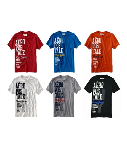 Aeropostale Mens Ny Graphic T-Shirt black XS